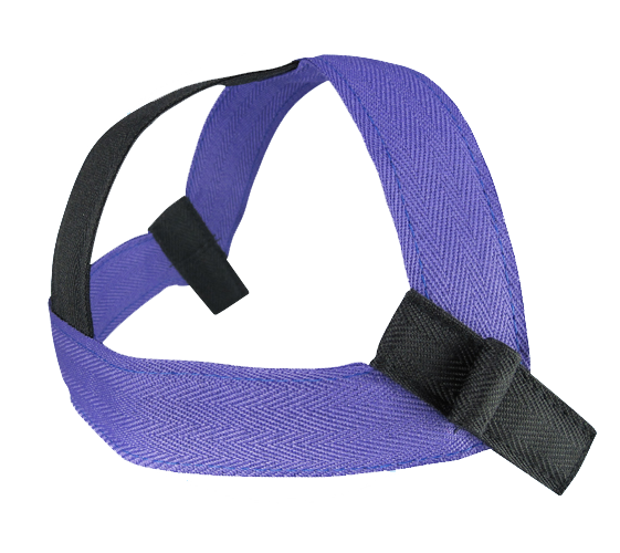 high pull headgear purple-black